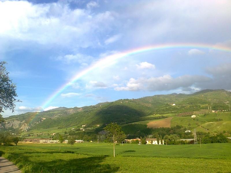 Arcobaleno in Val Trebbia