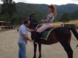 A cavallo all'Agriturismo