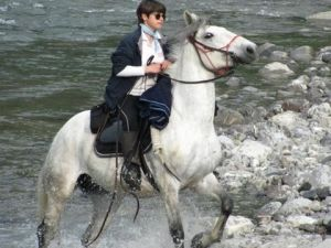 A cavallo sul fiume Trebbia